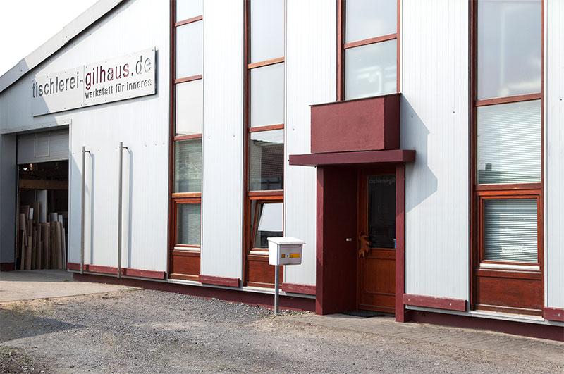 Das Firmengebäude der Tischlerei Gilhaus