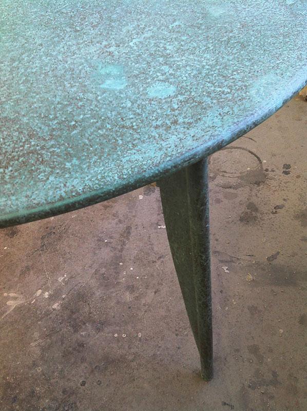 Kupferbeschichtung patiniert