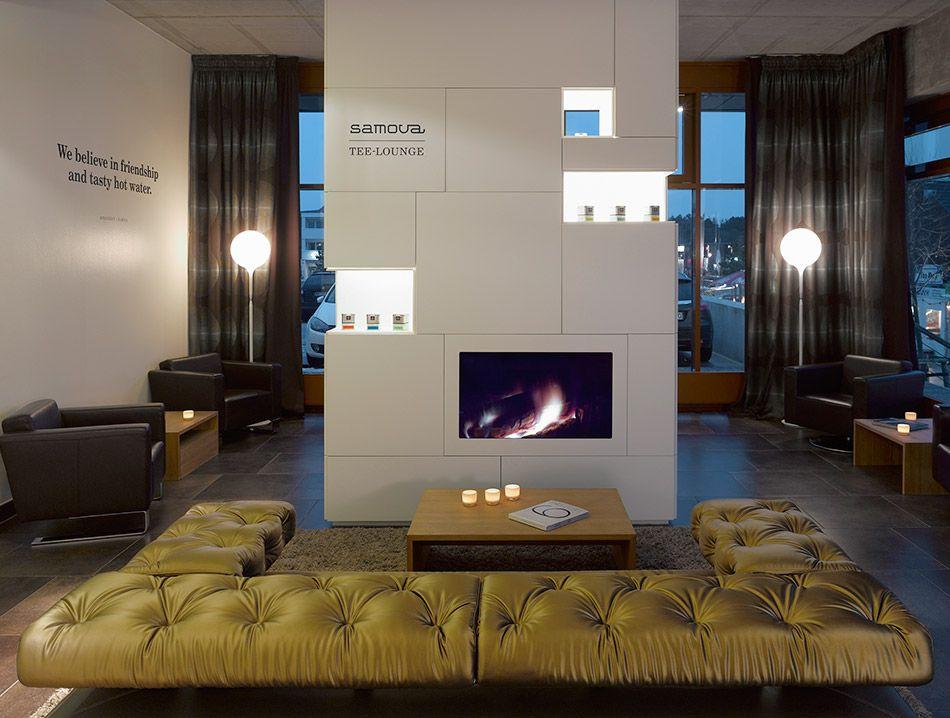 Samova Teelounge aus Corian Hotel Strandgut, St.-Peter-Ording. Entwurf: Scoop Architekten